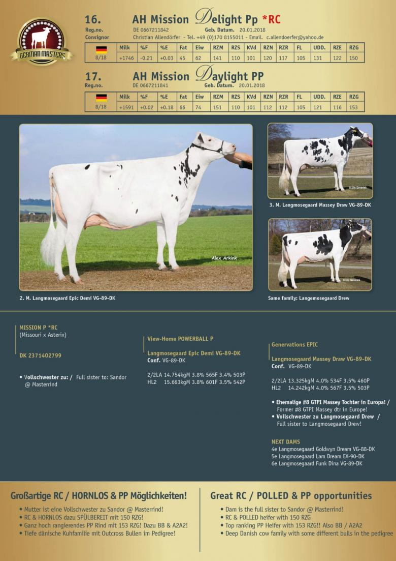 Datasheet for Lot 16. AH Mission Delight Pp *RC