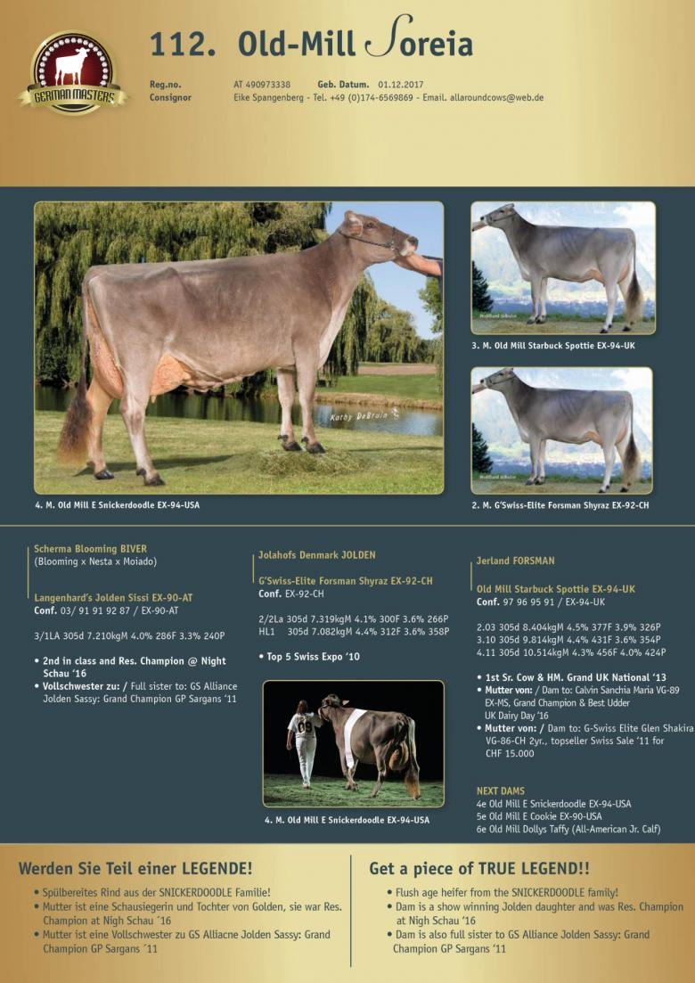 Datasheet for Lot 112. Old-Mill Soreia