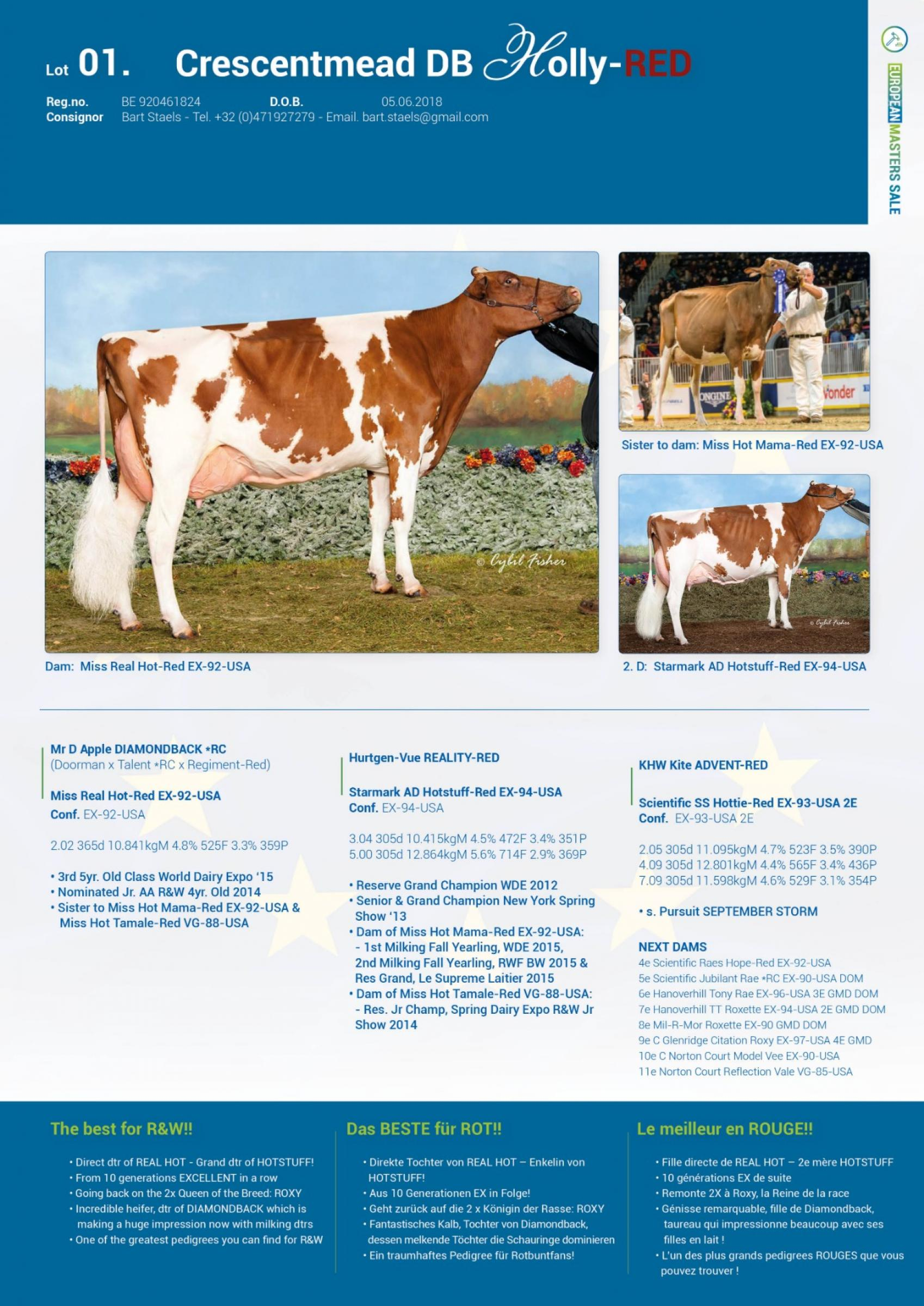 Datasheet for Lot 1. Crescentmead DB Holly-Red