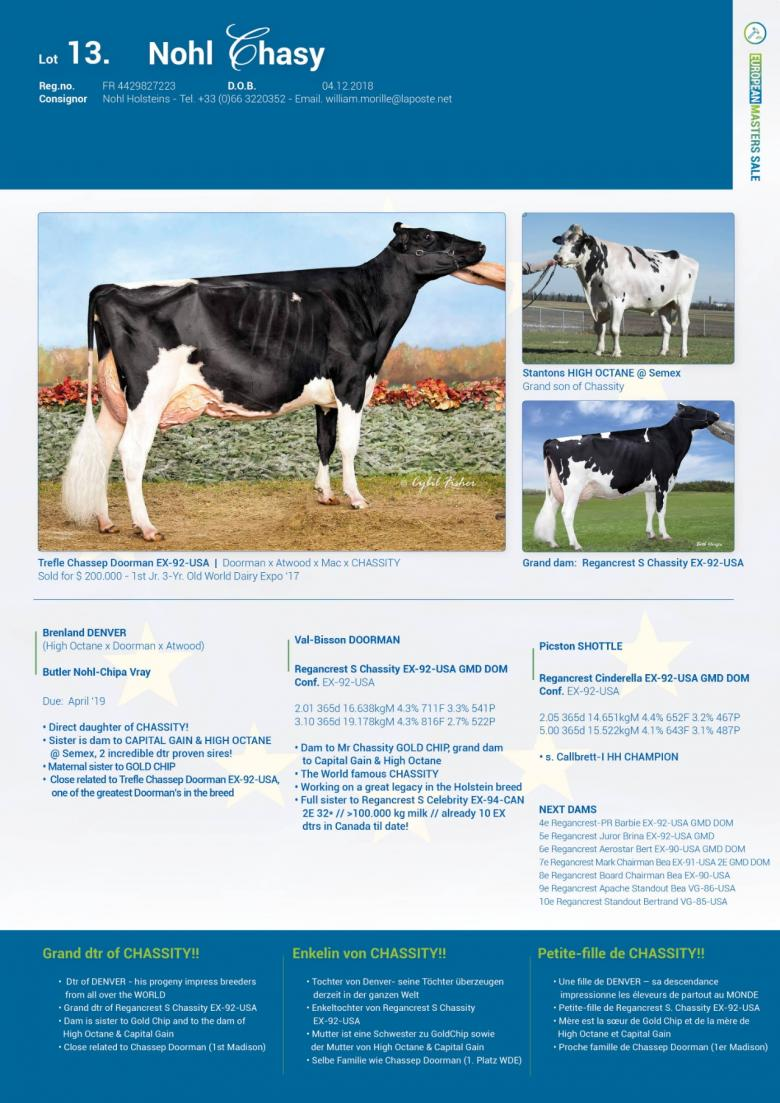 Datasheet for Lot 13. Nohl Chasy