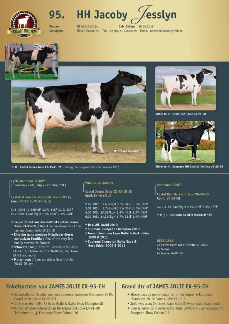 Datasheet for Lot 95. HH Jacoby Jesslyn