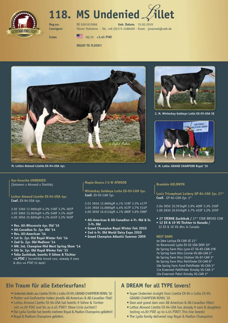 Datasheet for Lot 118. MS Undenied Lillet