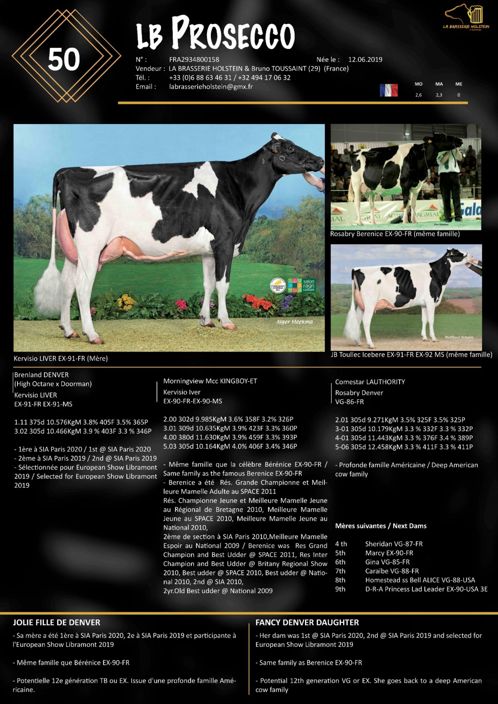 Datasheet for Lot 50. LB Prosecco (1st  Choice With LB Passoa)